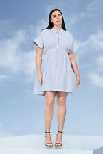VICTORlA BECKHAM STRIPES DRESS