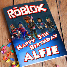 ROBLOX Personalised Birthday Card! FAST 1st Class Shipping! Premium quality.