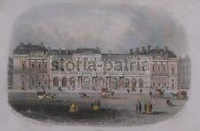 ARCHITETTURA_PALAZZO REALE_PARIGI_BELLA ANTICA VEDUTA COLORATA_ANIMATISSIMA_1867