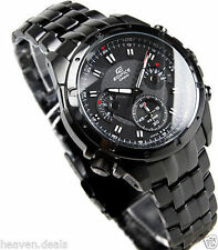 Sports casio Edifice EF-535BK Full Black Rotate Dial Chronograph Watch for Men