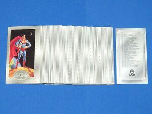 1994 SUPERMAN MAN OF STEEL PLATINUM SERIES Collectors WIDEVISION 90 CARD SET!
