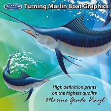 Turning Marlin Graphics - set of 280mm Boat Graphics