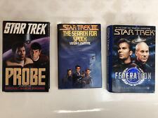 Star Trek Books LOT OF 3 Probe, Star Trek III SEARCH FOR SPOCK, Federation HC VG
