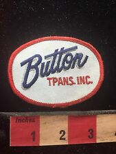 Vtg BUTTON TPANS INC. (error Maybe - Possibly Should Be Trans) Truck Patch 76WU