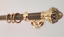 Gardinenstange Messing antik 20 mm Rohr kanneliert Granada  Classico  exclusiv