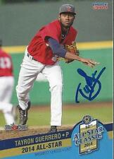 Tayron Guerrero 2014 Midwest League All Star Fort Wayne Tin Caps Signed Card