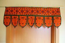 Hanging Wall Indian Cotton Orange Türbehang 90 cm x 35 cm Handarbeit Dekoration