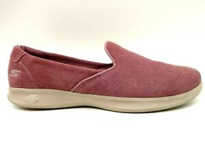 Skechers On The Go Gen 5 Burgundy Leather Casual Loafers Shoes Women's 11