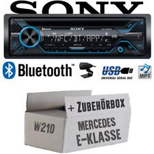 Sony Autoradio für Mercedes E-Klasse W210 Bluetooth CD/MP3/USB Einbauzubehör PKW