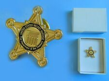 Authentic Secret Service Large Star Lapel Pin from White House Presidential