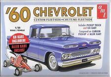 AMT 1/25 1960 Chevy Custom Fleetside Pickup W/go Kart 2t Plastic Model Kit Amt10