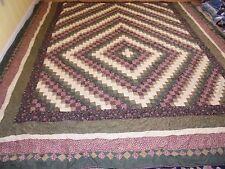 Pretty Trip Around The World Pattern Quilt