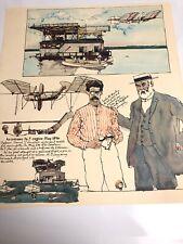 Vintage Lithograph Aviation Aerodrome Unmanned Models By Ken Dallison