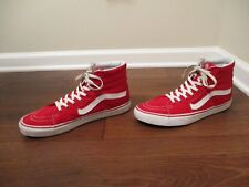 Used Worn Size 13 Vans OTW Sk8 High Skateboard Shoes Red White