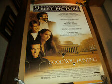 Original Movie Poster Good Will Hunting 1997 Double sided