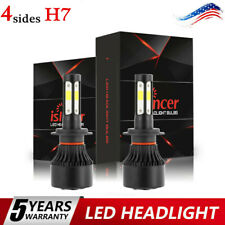 Pair 2900W 4-sides H7 CREE LED Headlight Kit 6000K 390000LM Replacement Bulbs CC