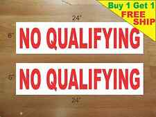 """NO QUALIFYING 6""""x24"""" REAL ESTATE RIDER SIGNS Buy 1 Get 1 FREE 2 Sided Plastic"""