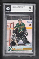 Marty Turco 2000-01 Stadium Club Rookie Card #259 Stars BGS Graded 9 MINT