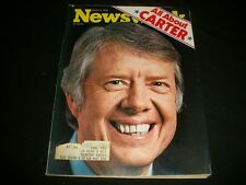 1976 MAR 8 NEWSWEEK MAGAZINE - PRESIDENT CARTER - BEAUTIFUL FRONT COVER- A496