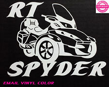 CAN-AM SPYDER  RT WITH LETTERING- WINDOW DECAL / BUMPER STICKER  - 13 colors