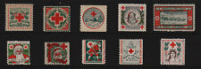 1909 - 1918 US Red Cross Christmas Seals Set - P4S