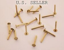 """Brass Solid Rivets 1.3mm Wide x 1/2"""" Long Package Of 100"""