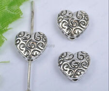 20pcs tibetan silver Heart Shaped loose Spacer Beads 9mm DIY Findings