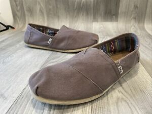 Toms Esparadrilles Slip On Canvas Shies Almond Uk12/46 Casual Mens