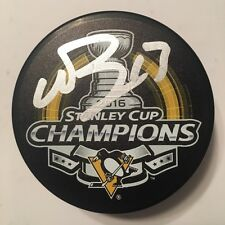 NICK BONINO SIGNED STANLEY CUP CHAMPIONS PUCK PITTSBURGH PENGUINS AUTOGRAPH