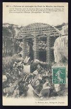 cpa 1909 PONT du MOULIN des PIERRES TRAMWAY Electrique de BELLEGARDE à CHÉZERY
