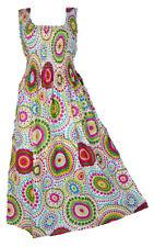 Kleider 100% Cotton Long Boho Maxi Dress Party Evening Size 14 16 18 20 22 24 April