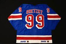 RARE Starter Authentic New York Rangers Blue Wayne Gretzky Player Jersey
