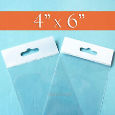 100 Clear Cello Bags4x6 Hang Top Resealable Self Adhesiveopp Poly 4 X 6 Inch