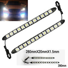 12 LED 6K White Waterproof Universal DRL Flexible Strip Turn Signal Light BM A V