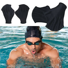 1Pair Adults Swiming Training Water Diving Paddle Webbed Gloves Flipper Aid Gift
