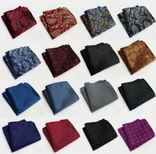 Pattern Pocket Square Handkerchief Hankie Lattice Suit Men Business Wedding