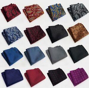 Pattern Pocket Square Handkerchief Hankie Lattice Suit Men Business Wedding