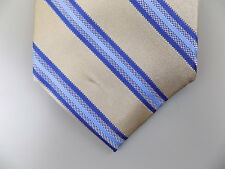 "MICHAEL KORS $75 MEN Blue Striped Skinny WIDTH 3"" NECK TIE 100% Silk A16"