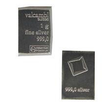 1 Gramm Valcambi Silberbarren aus Tafelbarren 999 Feinsilber 1g Silber