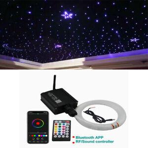 12V Car Headliner Star Light kit Roof Ceiling Light Fiber Optic RF & APP Control