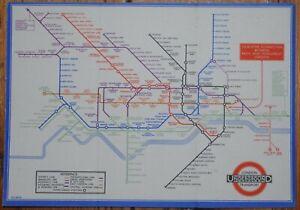 LONDON UNDERGROUND - BECK'S TRI-FOLD PASSENGER MAP FOR 1933.