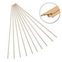 10pcs Brass Rod Wires Sticks 2mm * 250mm For Repair Welding Brazing Soldering US