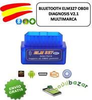 BLUETOOTH ELM327 OBDII OBD2 DIAGNOSIS COCHE V2.1 USB UNIVERSAL ENVIO 24H