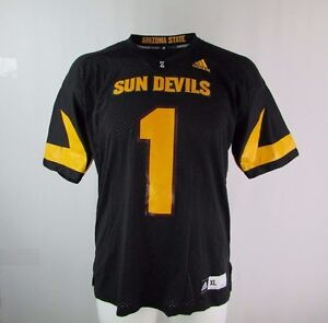 NCAA Arizona State Sun Devils Men 3-Stripe Football Jersey Black