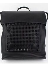 Christian Louboutin Black Leather Syd New Straw Backpack New With Tags  $2,500