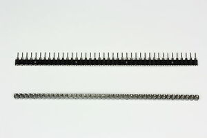 40 pin Single In Line (SIL) Turned Pin Socket 0.1 Inch Pitch Sold 2 Pieces