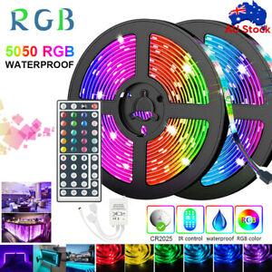 5M/10M/20M RGB LED STRIP LIGHTS IP65 5050 12V 44key IR Controller Waterproof 🔥