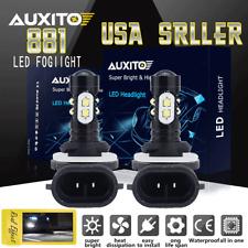 2x Xenon White 80W 881 898 862 LED Bulbs Fog Driving Light Foglight Lamp 6000K