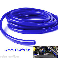 Car Engine 4mm Silicone Vacuum Tube Hose Silicon Tubing 16.4ft 5 Meters Blue Kit