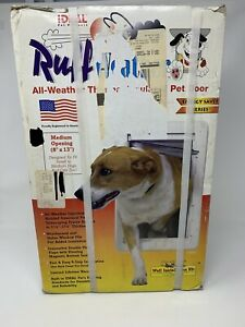 NIB Ideal Pet Products All Weather Thermal Insulated Pet Door Medium Open 8x13